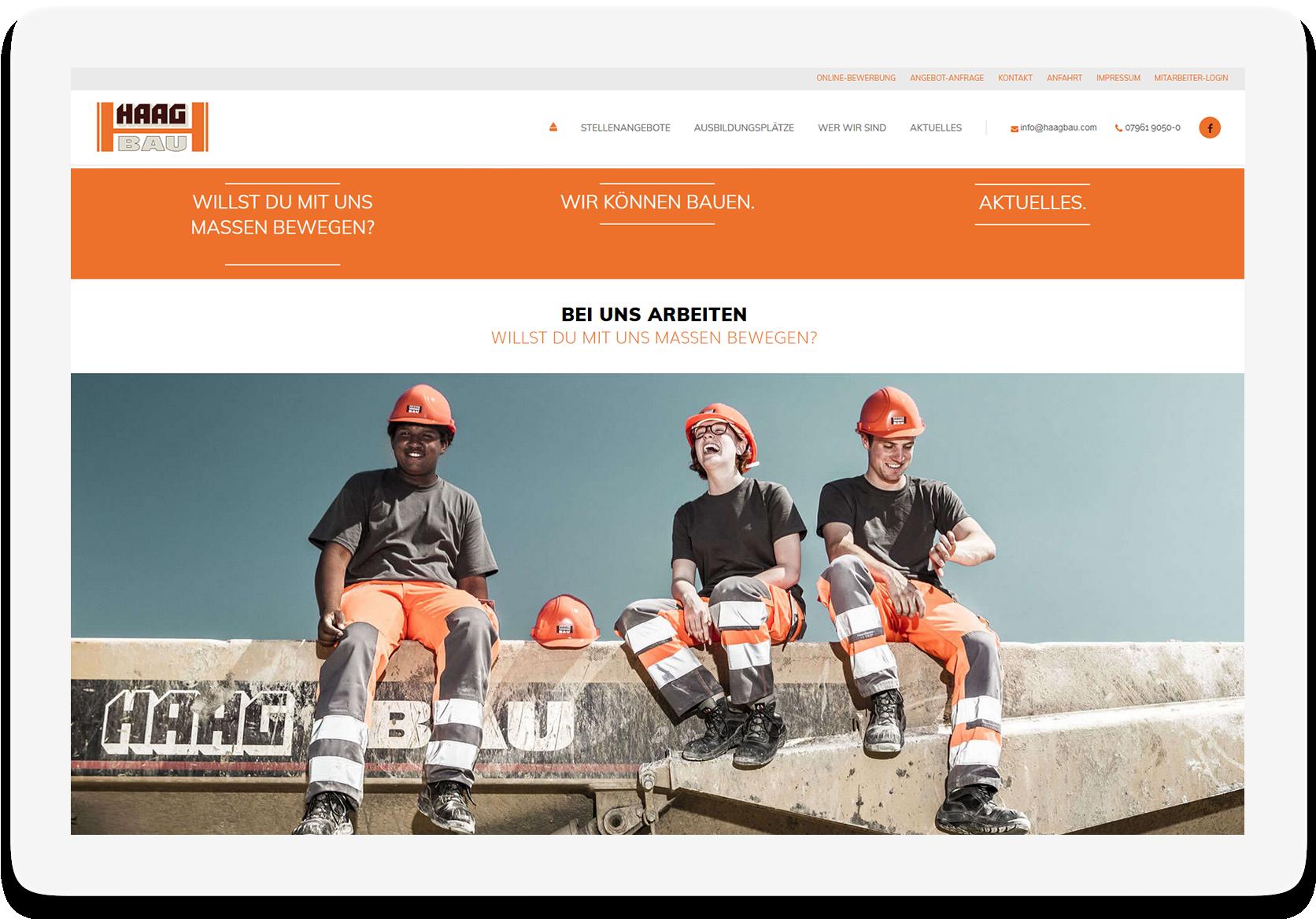 Referenz Website Haag Bau