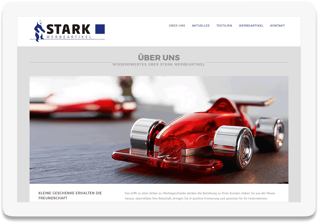 Referenz Website Stark Werbeartikel