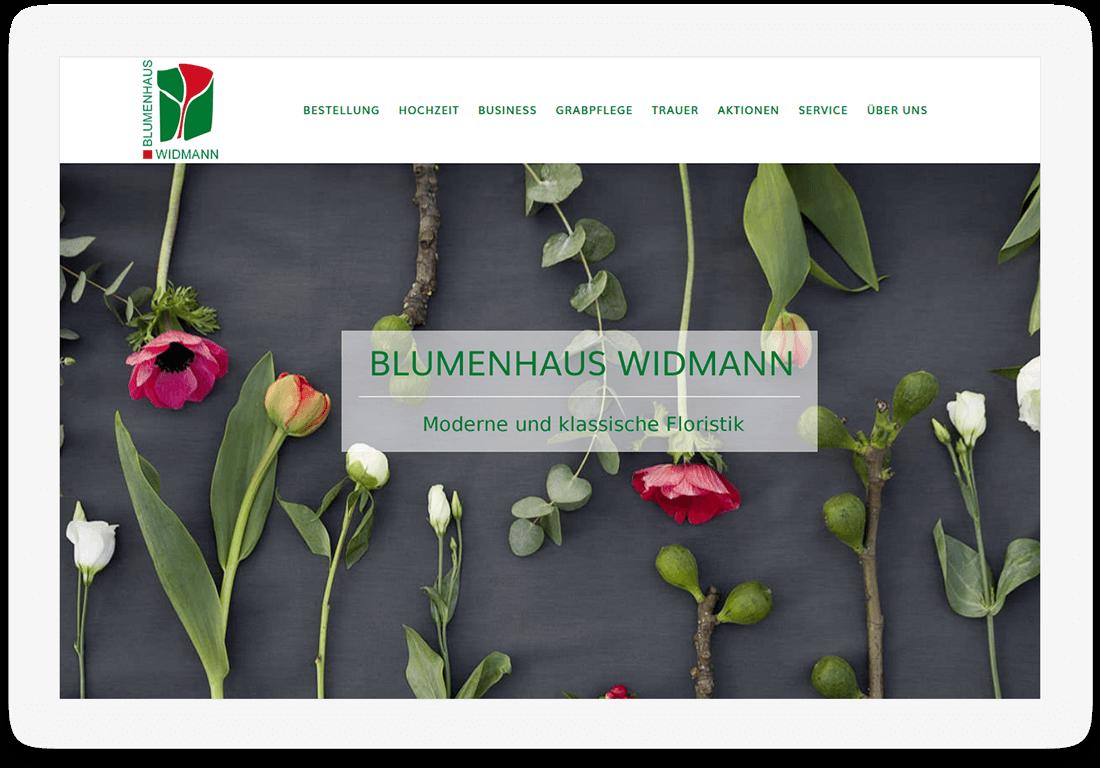 Referenz Website Blumenhaus Widmann